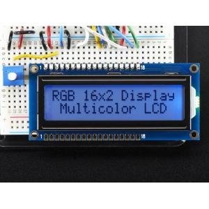 LCD maartiksdisplei 16x2, RGB taustvalgusega, positiiv