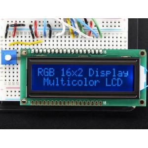 LCD maartiksdisplei 16x2, RGB taustvalgusega, negatiiv