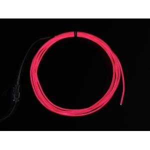 Elektroluminestsents kaabel, roosa, 2.5m