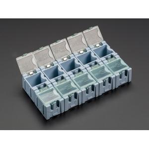 SMD komponendikarp, 25 x 32 x 22mm, sinine, 10 tk