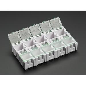 SMD komponendikarp, 25 x 32 x 22mm, valge, 10 tk