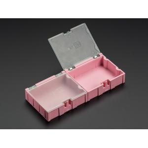 SMD komponendikarp, 76 x 64 x 22mm, roosa, 2 tk