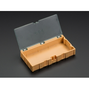 SMD komponendikarp, 126 x 64 x 22mm, oranž