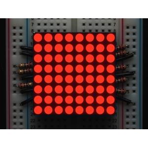 LED maatriks 8x8, 30mm, punane