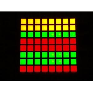 LED maatriks 8x8, kandiline, 30mm, punane/roheline