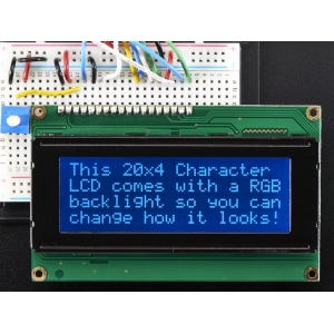 LCD maartiksdisplei 20x4, RGB taustvalgusega, negatiiv