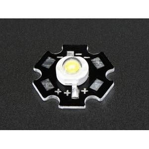 LED 1W, külm valge, alumiiniumalusel
