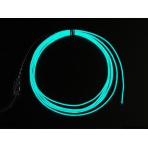 Elektroluminestsents kaabli stardikomplekt, Aqua, 2.5m
