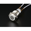 Rugged Metal Pushbutton with White LED Ring