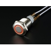 Rugged Metal Pushbutton with Red LED Ring