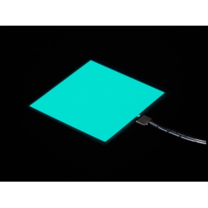 Elektroluminestsents paneeli stardikomplekt, Aqua, 10 x 10cm