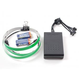 Elektroluminestsents riba stardikomplekt, roheline, 1m