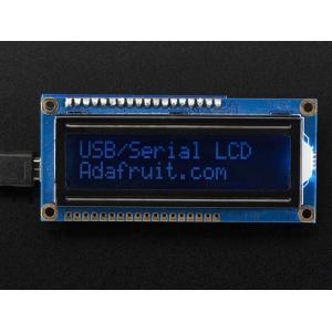 LCD maartiksdisplei 16x2, RGB taustvalgusega, negatiiv, USB
