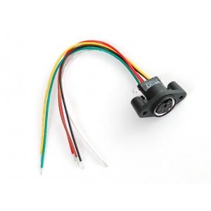 PS/2 MiniDIN-6 pesa paneelile, juhtmetega