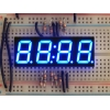 Blue 7-segment clock display - 0.56 digit height