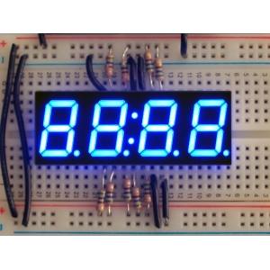 7-segment LED displei, 4 kohta, 14mm, sinine
