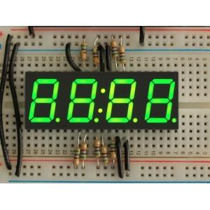 7-segment LED displei, 4 kohta, 14mm, roheline