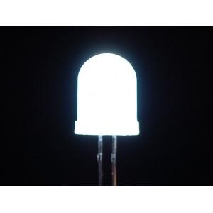 LED 10mm, valge, matt lääts, 25 tk