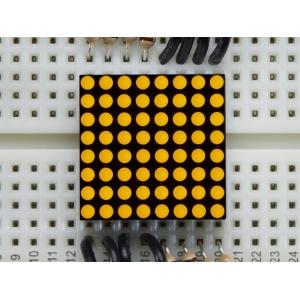 LED maatriks 8x8, 20mm, kollane