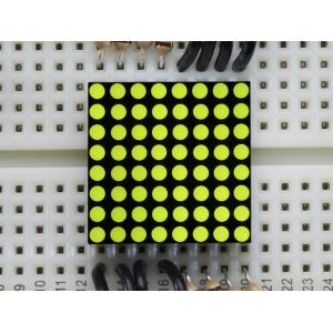 LED maatriks 8x8, 20mm, kollakas-roheline