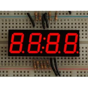 7-segment LED displei, 4 kohta, 14mm, punane