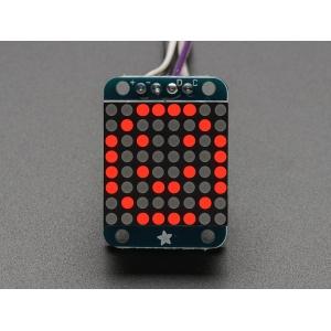 LED maatriks 8x8, 20mm, I2C draiveriga, punane