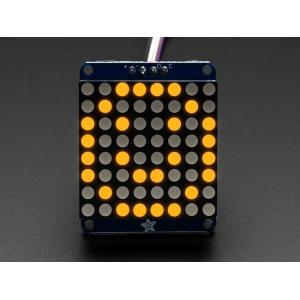 LED maatriks 8x8, 30mm, I2C draiveriga, kollane