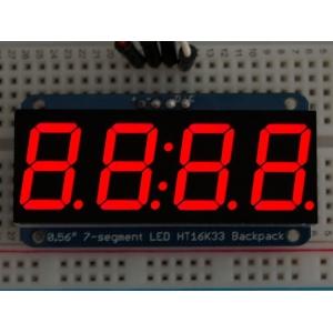 7-segment LED displei I2C draiveriga, 4 kohta, 14mm, punane