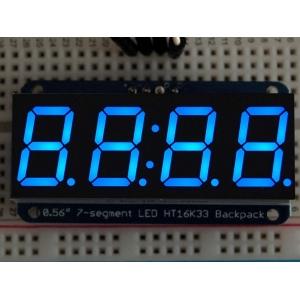 7-segment LED displei I2C draiveriga, 4 kohta, 14mm, sinine