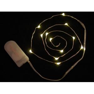 LED dekoratiivriba patareitoitega, 12 LED, soe valge