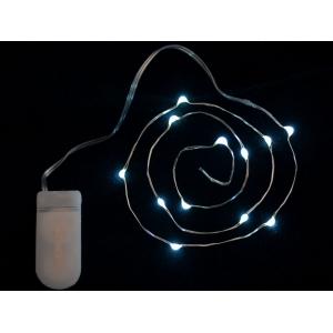 LED dekoratiivriba patareitoitega, 12 LED, külm valge