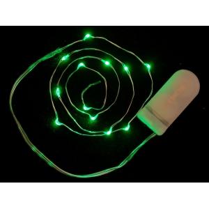 LED dekoratiivriba patareitoitega, 12 LED, roheline