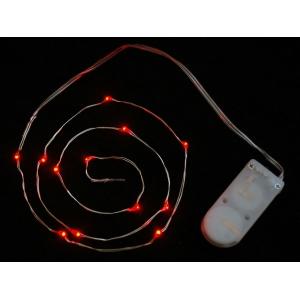 LED dekoratiivriba patareitoitega, 12 LED, punane