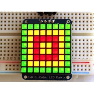 LED maatriks 8x8, kandiline, 30mm, I2C draiveriga, punane/roheline