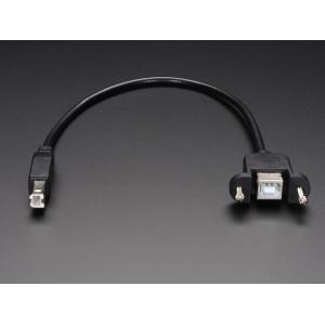 USB-B jätkukaabel paneelile, 33cm