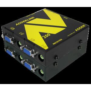 Audio / Video pikendaja kuni 300m läbi CATx (1 VGA + audio + RS-232, vastuvõtja), pildiparandusega