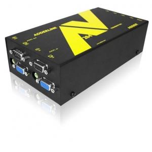 VGA pikendaja kuni 300m läbi CATx (8 VGA + audio + RS-232, saatja)