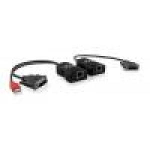 Audio / Video pikendaja kuni 50m läbi CATx (DVI - saatja + vastuvõtja komplekt)