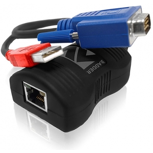 VGA pikendaja läbi CATx kuni 150m, Full HD tugi, USB toide, saatja