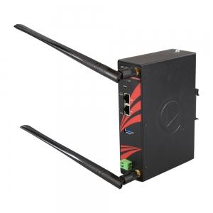 Tööstuslik IEEE 802.11a/b/g/n/ac Dual Radio Wireless Router/Client/Bridge/Repeater koos redundant raadio ühendusega,  -40 kuni 75°C