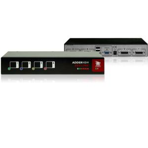 KVM switch 4-porti, tõstetud turvalisusega, USB, VGA, EAL2+, EAL4+, Tempest
