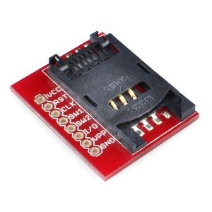SparkFun SIM kaardi pesa trükkplaadil