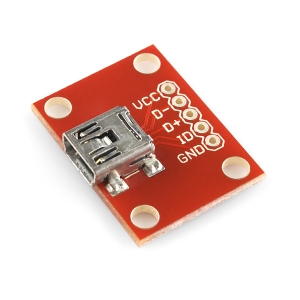 Sparkfun USB Mini-B pesa trükkplaadil