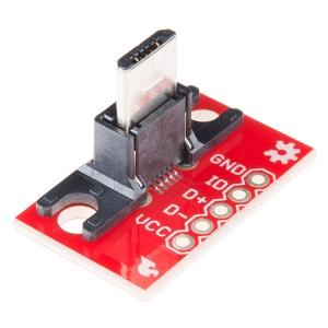 Sparkfun USB Micro-B pistik trükkplaadil