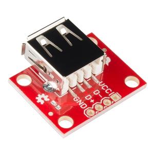 Sparkfun USB Type A pesa trükkplaadil