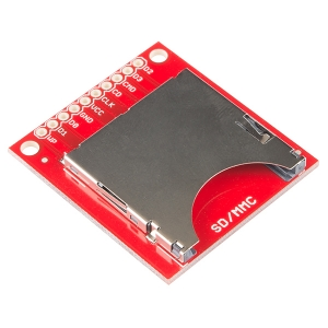 SparkFun SD/MMC kaardi pesa trükkplaadil