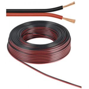Kõlarikaabel 2x1,5mm², punane+must OFC 100m/rull