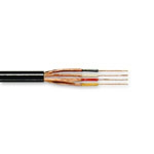 Mikrofonikaabel 4x0,14mm² must, eraldi varjega ümark. // 100m rull
