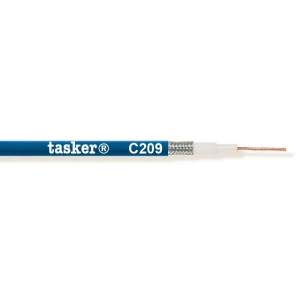 Mikrofonikaabel 1x0,75mm²  sinine, ümar, varjestatud