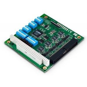 RS-232/422/485 PC/104 moodul, -40 kuni 85°, 4 porti